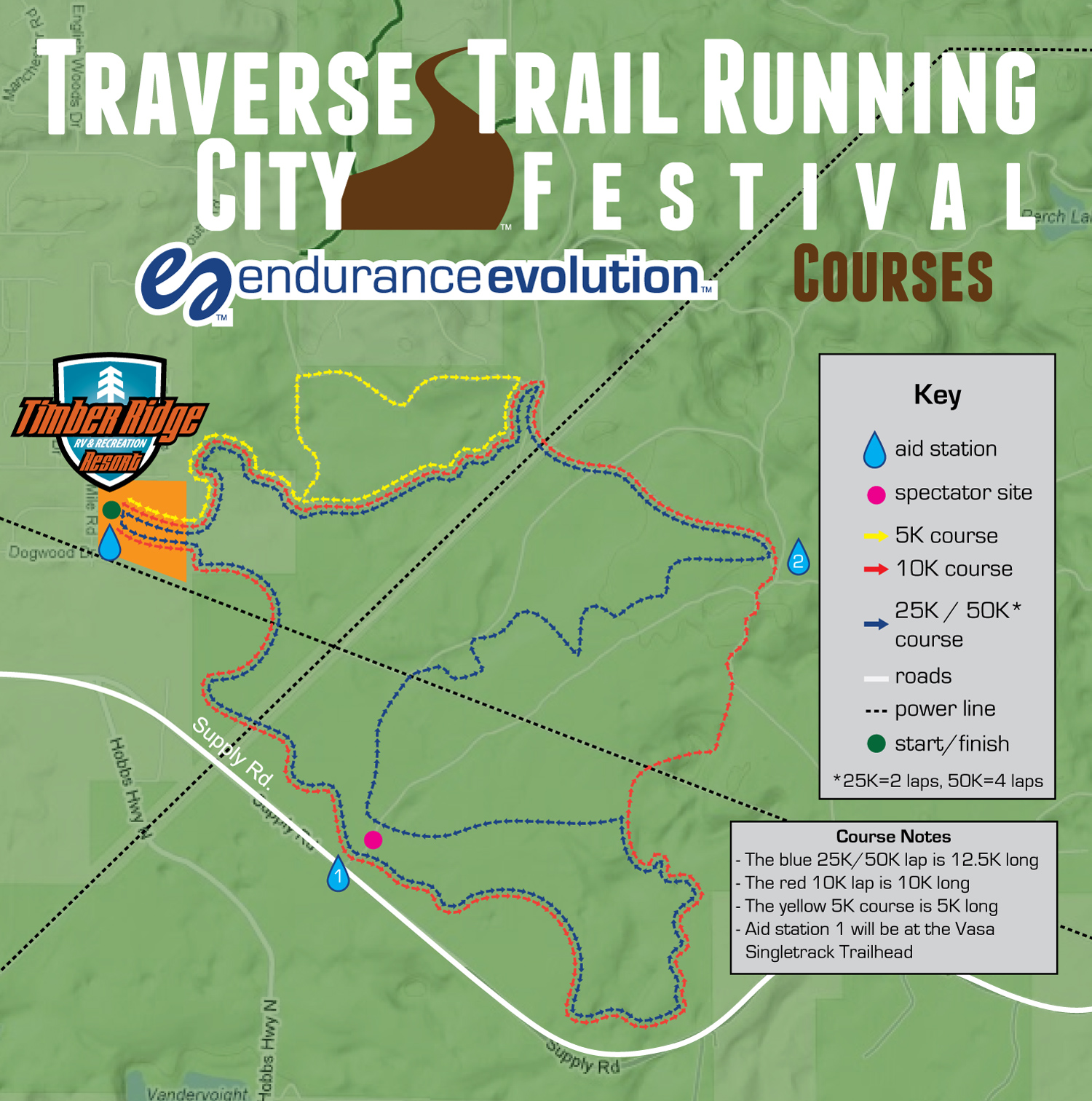 Traverse City Trail Running Festival Courses